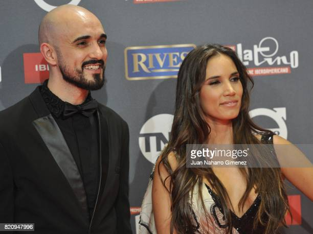 Abel Pinto and India Martinez attend the 'Platino Awards 2017' photocall at La Caja Magica on July 22 2017 in Madrid Spain