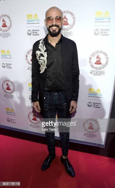 Abel Pintos attends the Latin GRAMMY Acoustic Session red carpet photocall at Usina del Arte on February 27 2018 in Buenos Aires Argentina