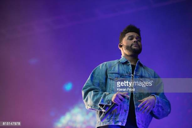 Abel Tesfaye aka The Weekend performs at Longitude Festival at Marlay Park on July 15 2017 in Dublin Ireland