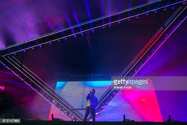 Abel Tesfaye aka The Weekend performs at Longitude Festival at Marlay Park on July 15, 2017 in Dublin, Ireland.