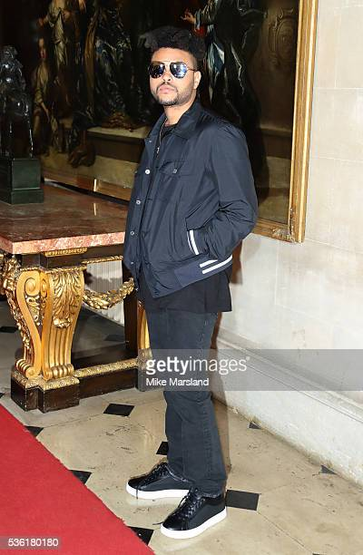 Abel Tesfaye aka The Weeknd attends as Christian Dior showcases its spring summer 2017 cruise collection at Blenheim Palace on May 31 2016 in...