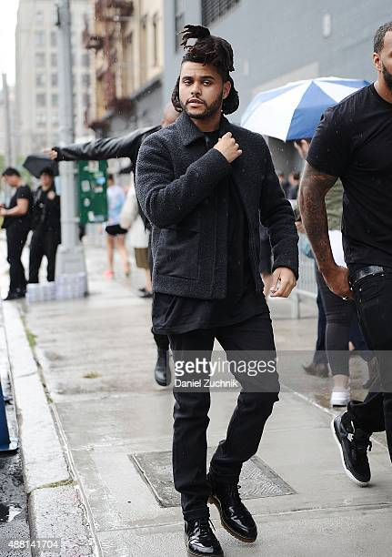 Abel Tesfaye aka The Weeknd is seen outside the DVF show on September 13 2015 in New York City