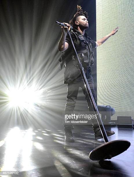 Abel Tesfaye aka The Weeknd performs at the Bill Graham Civic Auditorium on October 11 2014 in San Francisco California