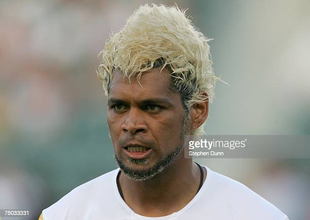 Abel Xavier of the Los Angeles Galaxy prepares to play against the Chicago Fire on July 4 2007 at the Home Depot Center in Carson California The...