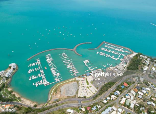 abell point marina, airlie beach, queensland, australia - whitsunday island stock photos and pictures