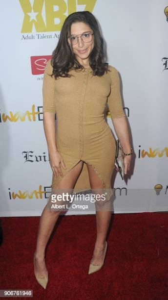 Abella Danger arrives for XBiz's RISE Performer Appreciation Event held at 1 Oak on November 15 2017 in West Hollywood California