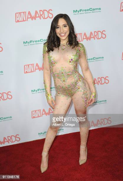 Abella Danger attends the 2018 Adult Video News Awards held at Hard Rock Hotel Casino on January 27 2018 in Las Vegas Nevada