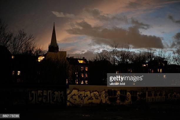 Abendhimmel über BerlinPrenzlauer Berg