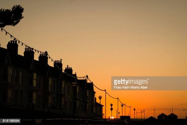 Aberaeron, Wales, sunset