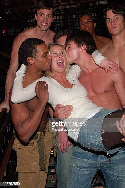 Abercrombie Models during Abercrombie Fitch Store Opening on 5th Avenue in New York City at A F 5th Avenue in New York City New York United States