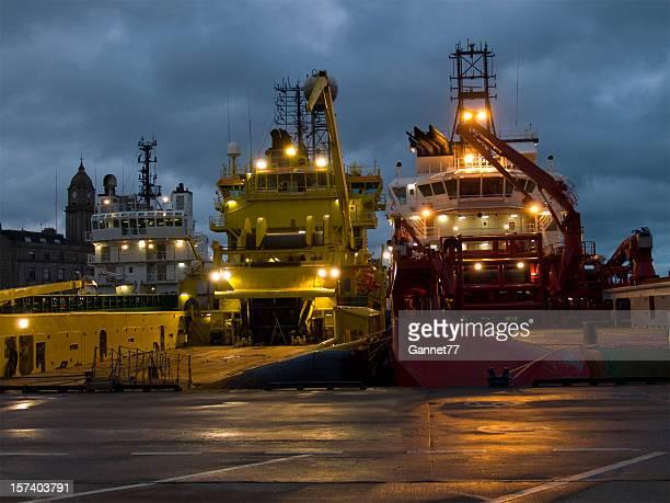 Aberdeen Harbour at Dusk