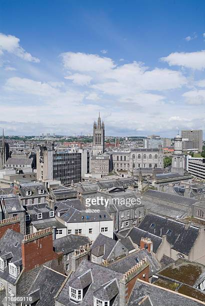 aberdeen rooftops - grampian scotland stock pictures, royalty-free photos & images