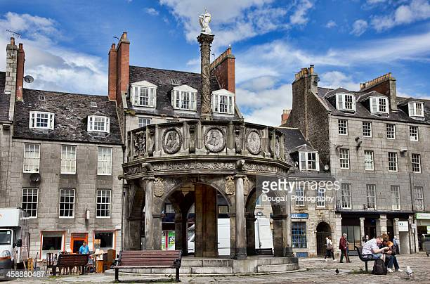 Aberdeen Scozia Mercat Cross in Castlegate District