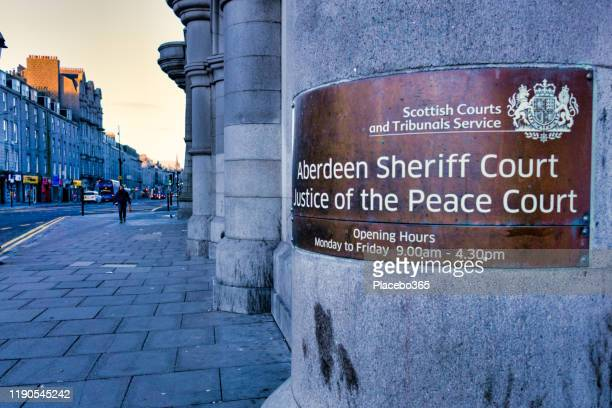 aberdeen sheriff court and justice of the peace court, scotland, uk - aberdeen scotland stock pictures, royalty-free photos & images