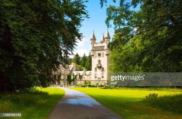 Aberdeenshire. Scotland. The Balmoral castle. Summer residence of the British Royal Family.