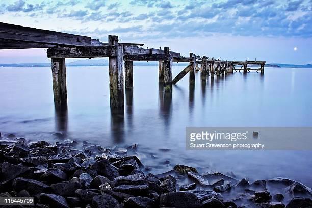 aberdour pier - fife scotland stock pictures, royalty-free photos & images