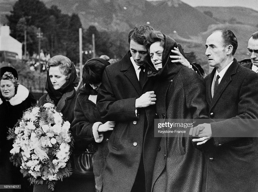 Aberfan Disaster, Funeral At Wales In United Kingdom On October 22Nd 1966 : News Photo