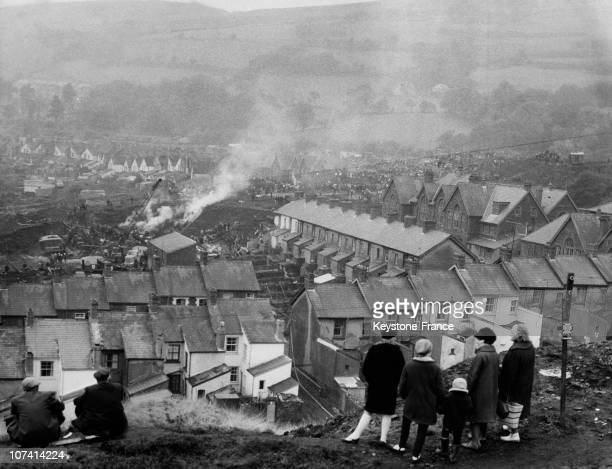 Aberfan Disaster Rescue Work Continuing In The Tragic Village At Wales In United Kingdom On October 23Rd 1966