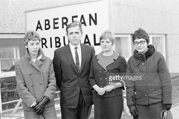 Aberfan Disaster Tribunal Merthyr Tydfil College of Further Education Wales 30th November 1966 picture shows surviving schoolteachers from Pantglas...