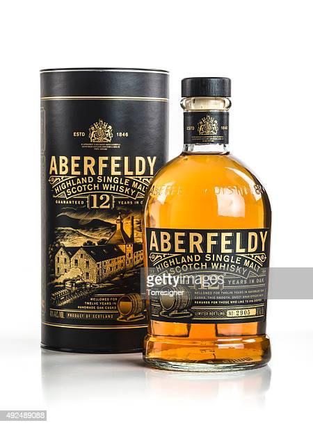 aberfeldy ボックスとボトル - アバフェルディ ストックフォトと画像