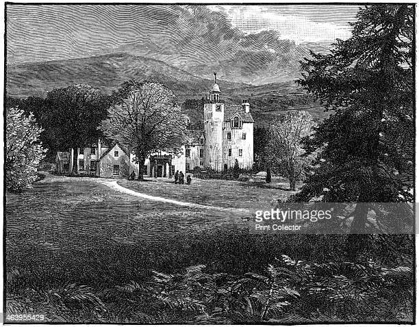 Abergeldie Castle Aberdeenshire Scotland 1900 The castle is about two miles from the royal family's country home at Balmoral Its earliest parts date...