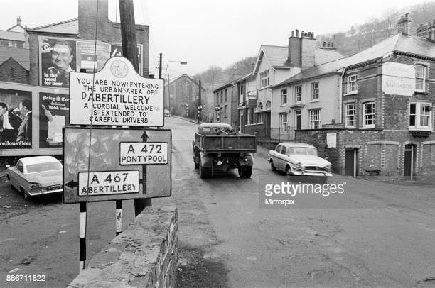 Abertillery the largest town of the Ebbw Fach valley in what was the historic county of Monmouthshire now Gwent county 17th February 1965