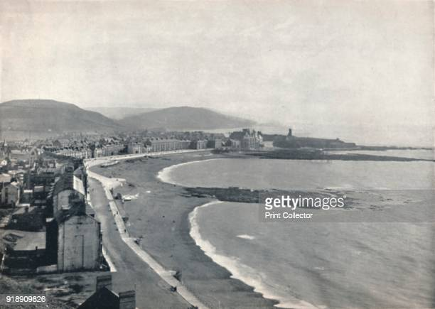 'Aberystwith View of the Bay Showing the Castle and the University College' 1895 From Round the Coast [George Newnes Limited London 1895]Artist...