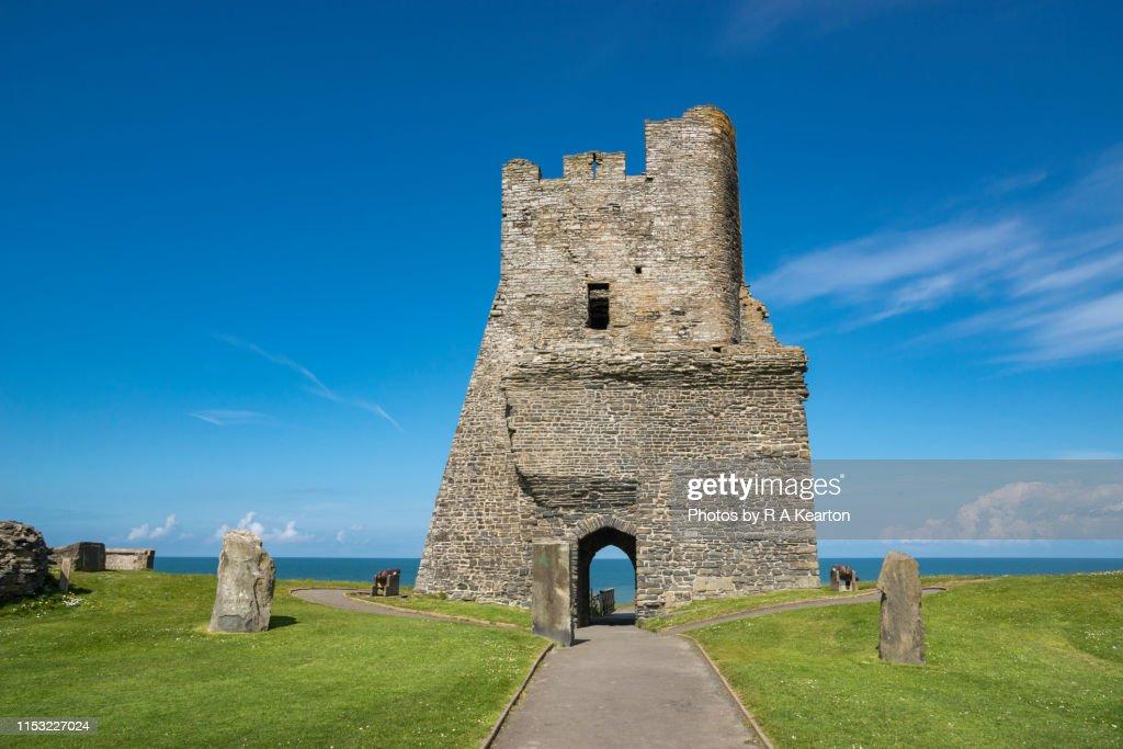 Aberystwyth castle, Wales, UK : Stock Photo