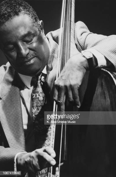 American jazz double bassist Ray Brown performing at KaniHoken Hall Tokyo December 1988