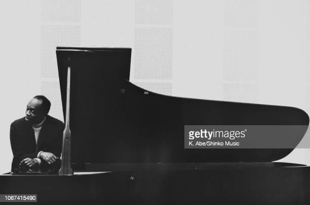 American jazz pianist bandleader arranger and composer Hank Jones portrait at Mori Recording Studio Tokyo January 24 1976