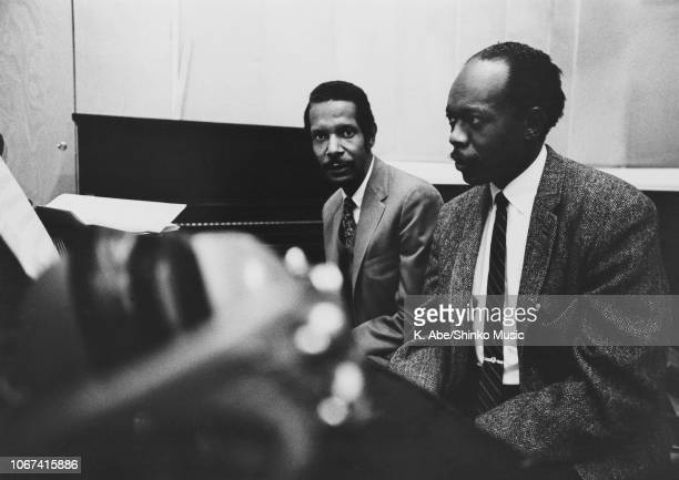 Duke Pearson and Hank Jones at Blue Note Recording in NYC 1968