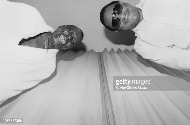 Abe/Shinko Music/Getty Images: Elvin Jones and McCoy Tyner, portrait, circa 1980.