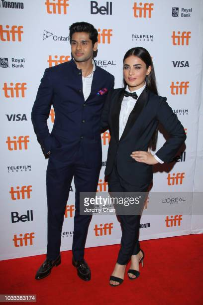 Abhimanyu Dasani and Radhika Madan attend the 'The Man Who Feels No Pain' premiere during 2018 Toronto International Film Festival at Ryerson Theatre...