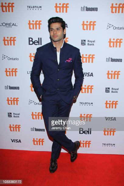 Abhimanyu Dasani attends the 'The Man Who Feels No Pain' premiere during 2018 Toronto International Film Festival at Ryerson Theatre on September 14...