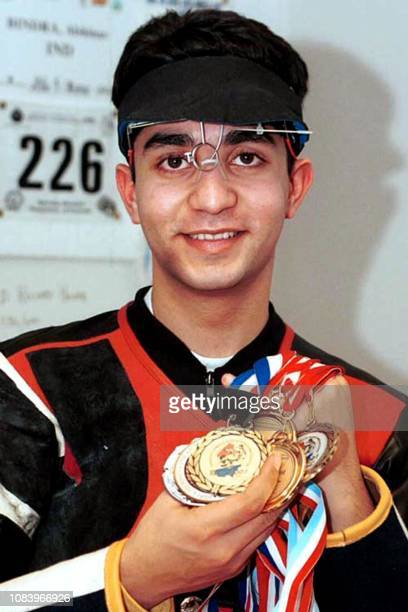 Abhinav Bindra the 18yearold shooter from Chandigarh returnd home with a clunch of twelve medals after his highly successful European rifle circuit...
