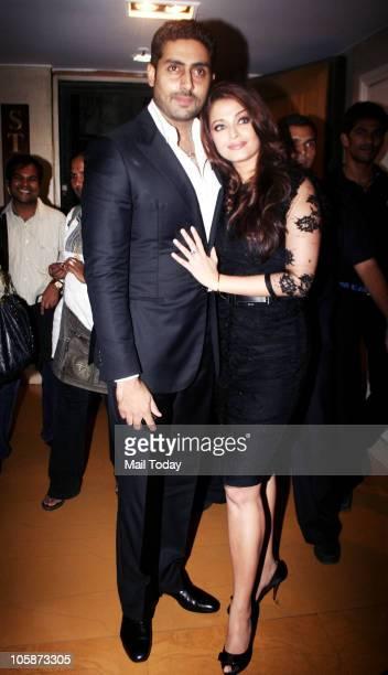 Abhishek and Aishwarya Bachchan at the music launch of the film �Guzaarish� in Mumbai on October 20 2010