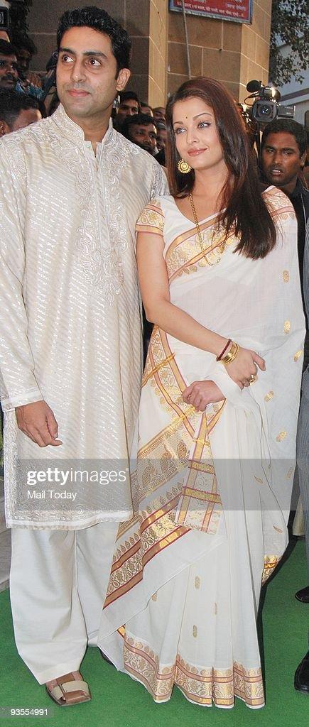 Abhishek and Aishwarya Bachchan in Mumbai at the launch of the Book MadhushalaThe House of Wine on Saturday November 28 2009 Amitabh Bachchan and his.