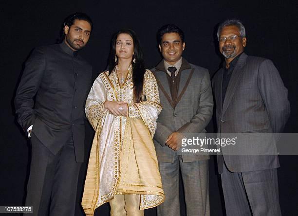 Abhishek Bachchan Aishwarya Rai R Madhavan and Mani Ratnam