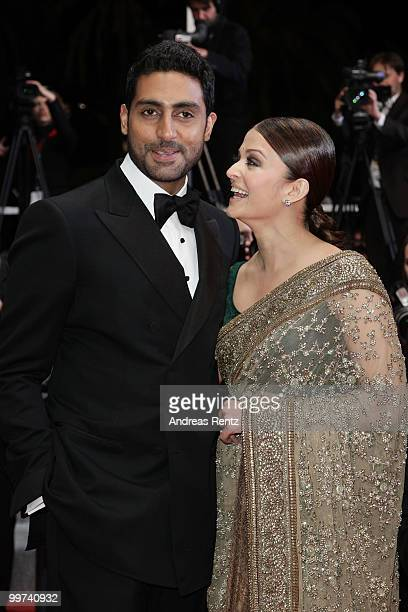 Abhishek Bachchan and Actress Aishwarya Rai Bachchan attend 'Outrage' Premiere at the Palais des Festivals during the 63rd Annual Cannes Film...