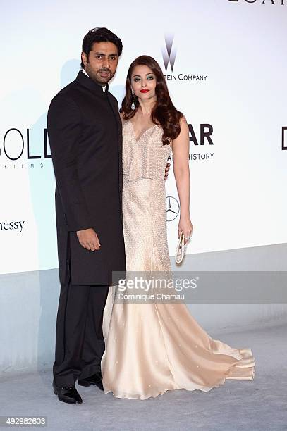 Abhishek Bachchan and Aishwarya Rai attend amfAR's 21st Cinema Against AIDS Gala Presented By WORLDVIEW BOLD FILMS And BVLGARI at Hotel du CapEdenRoc...