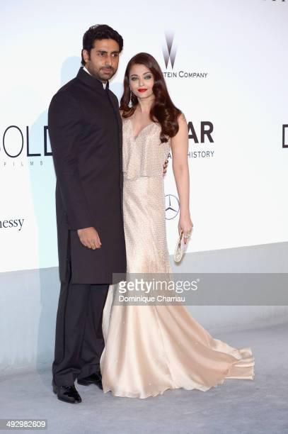 Abhishek Bachchan and Aishwarya Rai attend amfAR's 21st Cinema Against AIDS Gala Presented By WORLDVIEW BOLD FILMS And BVLGARI at Hotel du CapEdenRoc...