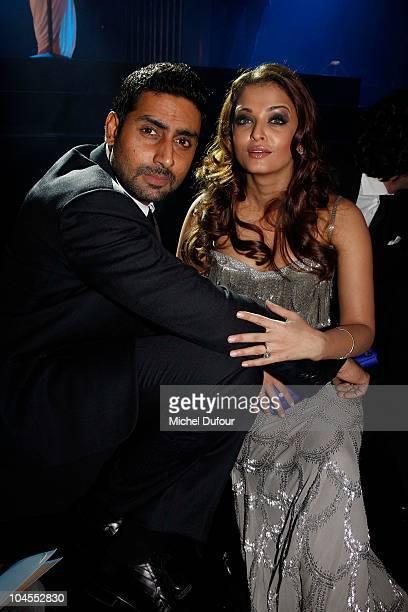 Abhishek Bachchan and Aishwarya Rai attend the Roberto Cavalli party 40 anniversary at Les BeauxArts de Paris on September 29 2010 in Paris France