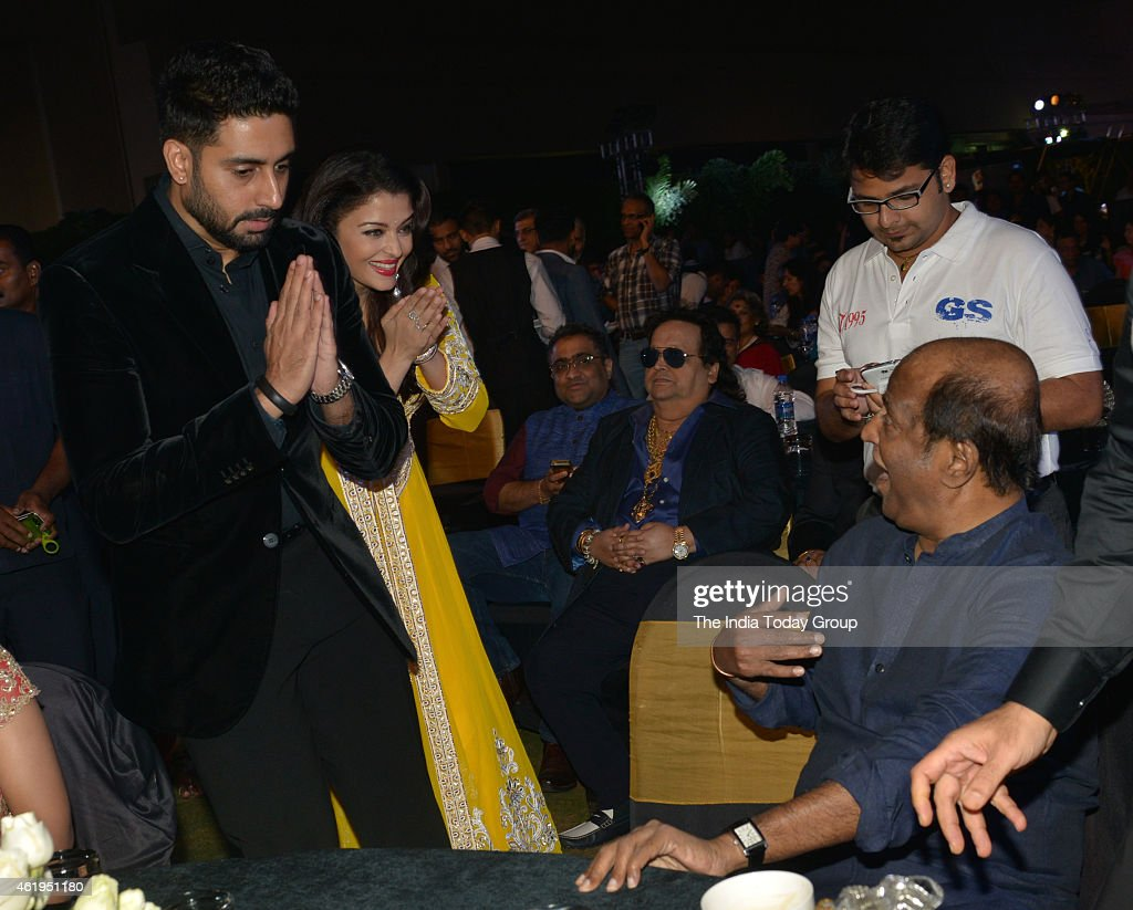 Abhishek Bachchan and Aishwarya Rai Bachchan at the music launch of Shamitabh and celebrating 1000 films of Ilaiyaaraaja music