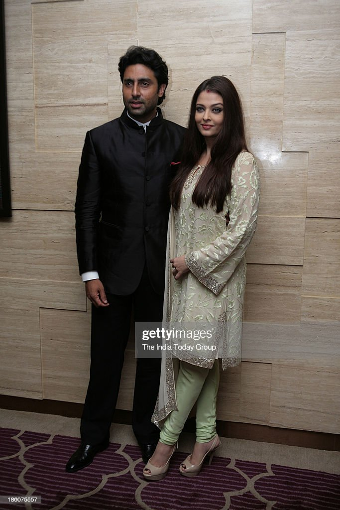 Abhishek Bachchan and Aishwarya Rai Bachchan during Asins birthday bash at JW Marriott in Mumbai