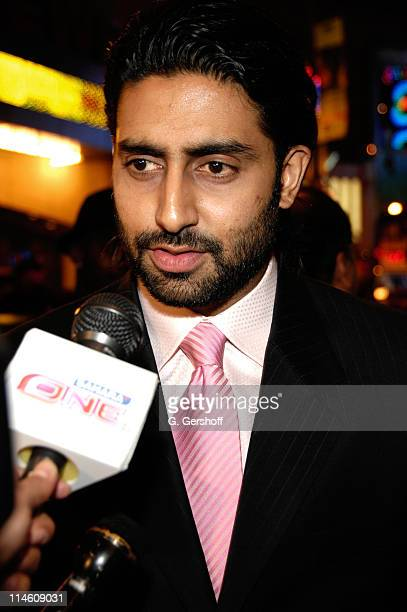 Abhishek Bachchan during 'Guru' New York City Premiere Red Carpet at AMC Empire Theater in New York City New York United States
