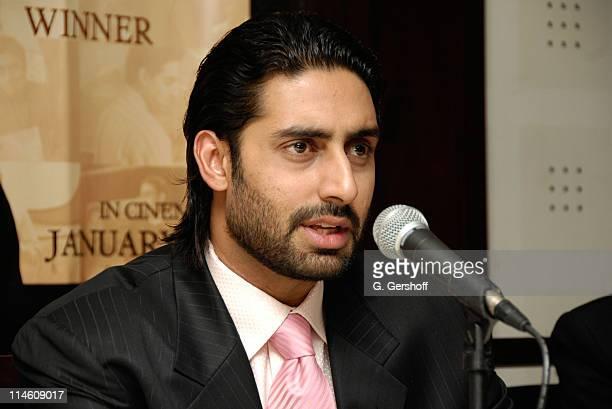 Abhishek Bachchan during 'Guru' New York Press Conference at Radisson Hotel in New York City New York United States