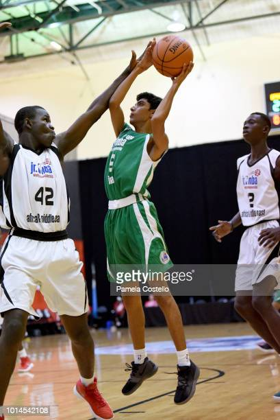 Abhishek Singh of the India Boys goes to the basket against the Africa and Middle East Boys during the Jr NBA World Championship on August 10 2018 at...