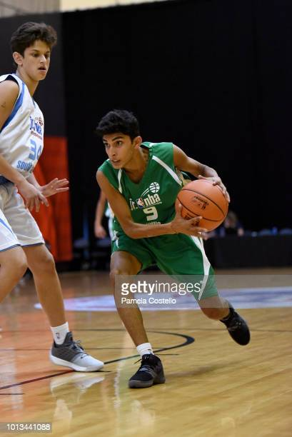 Abhishek Singh of the India Boys handles the ball against the South America Boys during the Jr NBA World Championship on August 8 2018 at ESPN Wide...