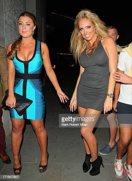 Abi Clarke and Aisleyne HorganWallace leaving STK restaurant on June 29 2013 in London England