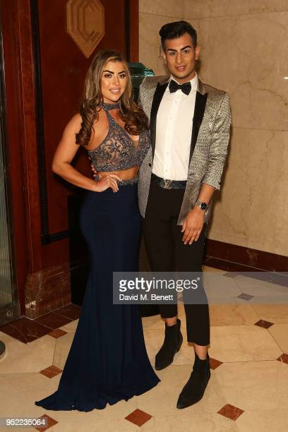 Abi Clarke and Junaid Ahmed attend The 8th Annual Asian Awards at The London Hilton on April 27 2018 in London England